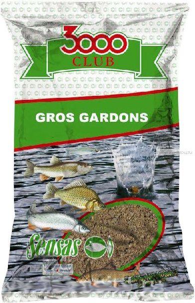 Прикормка Sensas 3000 Club Gros gardons (Большая плотва) 1кг. (11322)