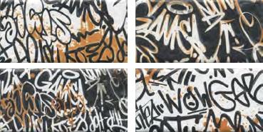 OP/A210/4x/19060 | Панно Граффити, панно из 4-х частей