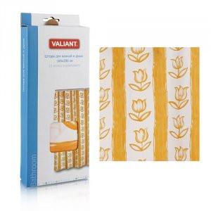 Штора для ванной комнаты 180*180см Тюльпаны оранжевые  Valiant арт.  334y