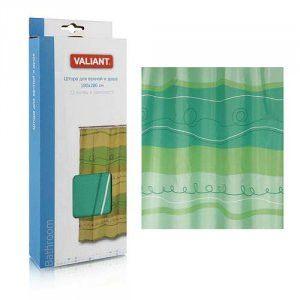 Штора для ванной Отражение зеленый  Valiant арт.  423g