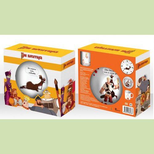 Набор детский Конь (керамика) 3 предмета в подарочной упаковке арт 92237