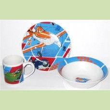 Набор детский Самолеты (фарфор) PL14-39EZ 3 предмета в подарочной упаковке