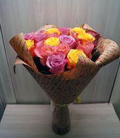 21 роза - Микс (60 см)