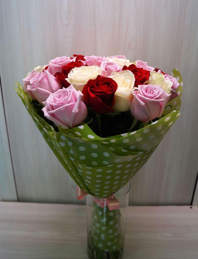 27 роз - Микс (60 см)