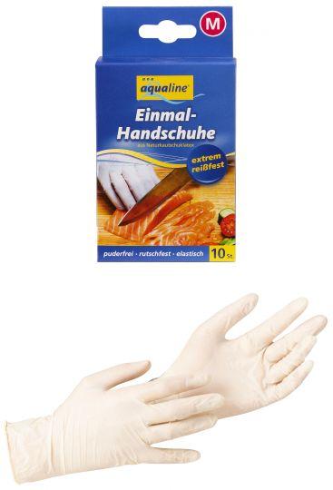 Aqualine Бытовые одноразовые перчатки размер большой 10 шт
