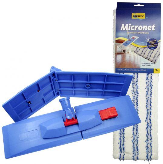 Aqualine Швабра Микронет/Профинет из микроволокна с телескопической ручкой 42 см