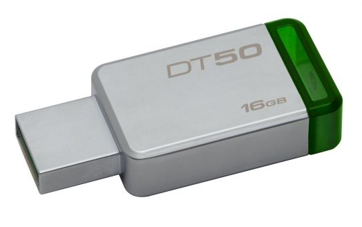 USB накопитель 3.0/3.1 Kingston 16GB DT50 Metal/Green