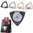 Держатель-кольцо и подставка для телефона Remax, Twister Ring, ZH-02, для смартфона, металл, на липучке, цвет: серый