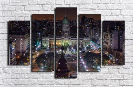 Модульная картина город 58