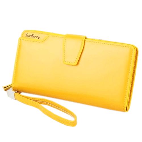 Кошелёк Woman Baellerry Wallet Pu Clutch Bag. Цвет: желтый.