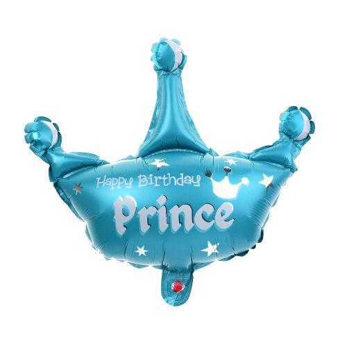 """Шар ФИГУРА/34"""" Корона для принцессы голубая  86 см"""