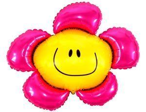 Шар ФИГУРА/11 Цветок розовый/FM 89*104 см