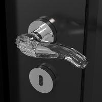 Ручка Glass Design Kiara. хром полированный/прозрачный кристалл
