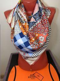 Шелковый платок Hermes цветной, арт. 041