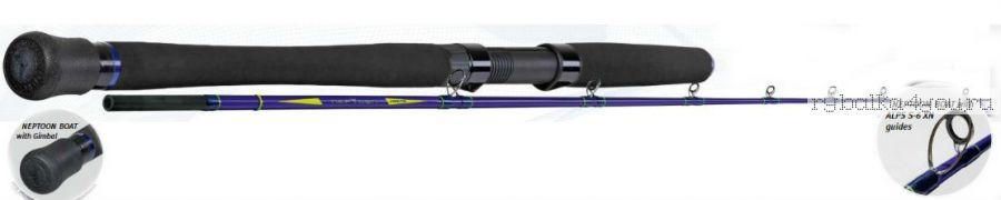 Удилище Sportex NepTooN Boat JO2136 2.15 м 50lbs (цельный бланк со съемной ручкой, кольца со средней посадкой, усиленные, под любую катушку)