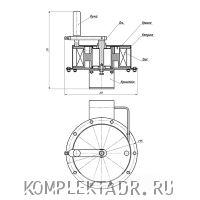 Схема барабана заземления БЗЗ-10-02
