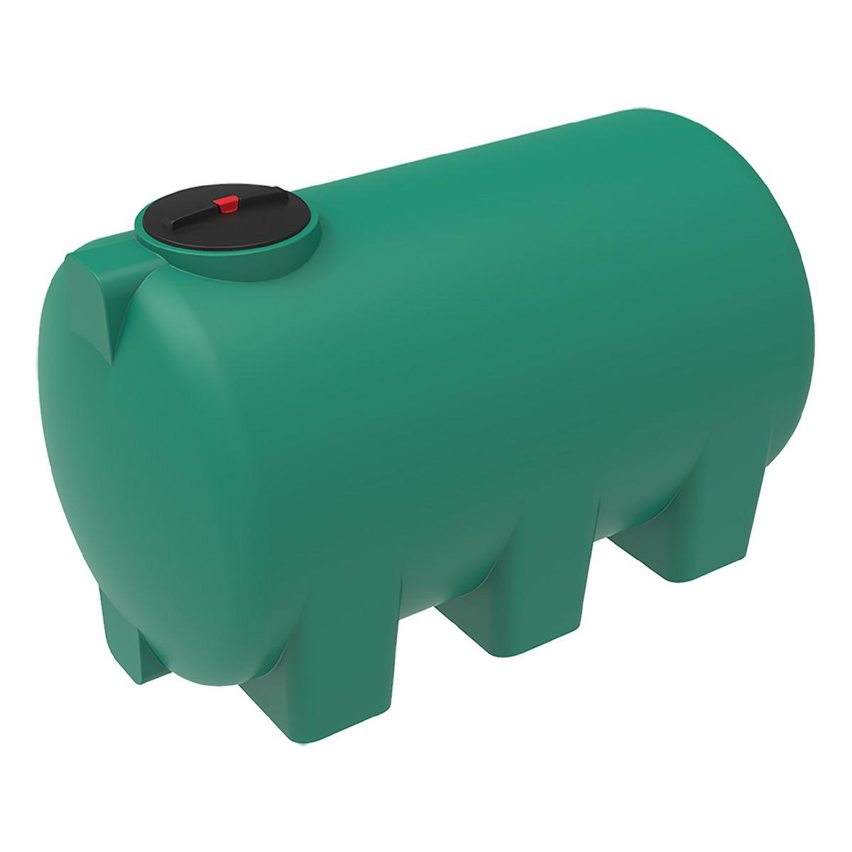 Емкость H 3000 литров пластиковая зеленая с откидной крышкой