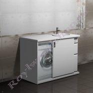 """Тумба для ванной под стиральную машину """"Глосси-Комби- 2 125 бюджет"""