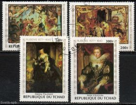 500 лет со дня рождения Рубенса набор марок Чад 1978