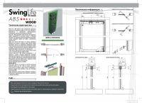 Складная раздвижная система Krona Koblenz SwingLife Wood ABS на 1 дверь до 70 кг с доводчиком.