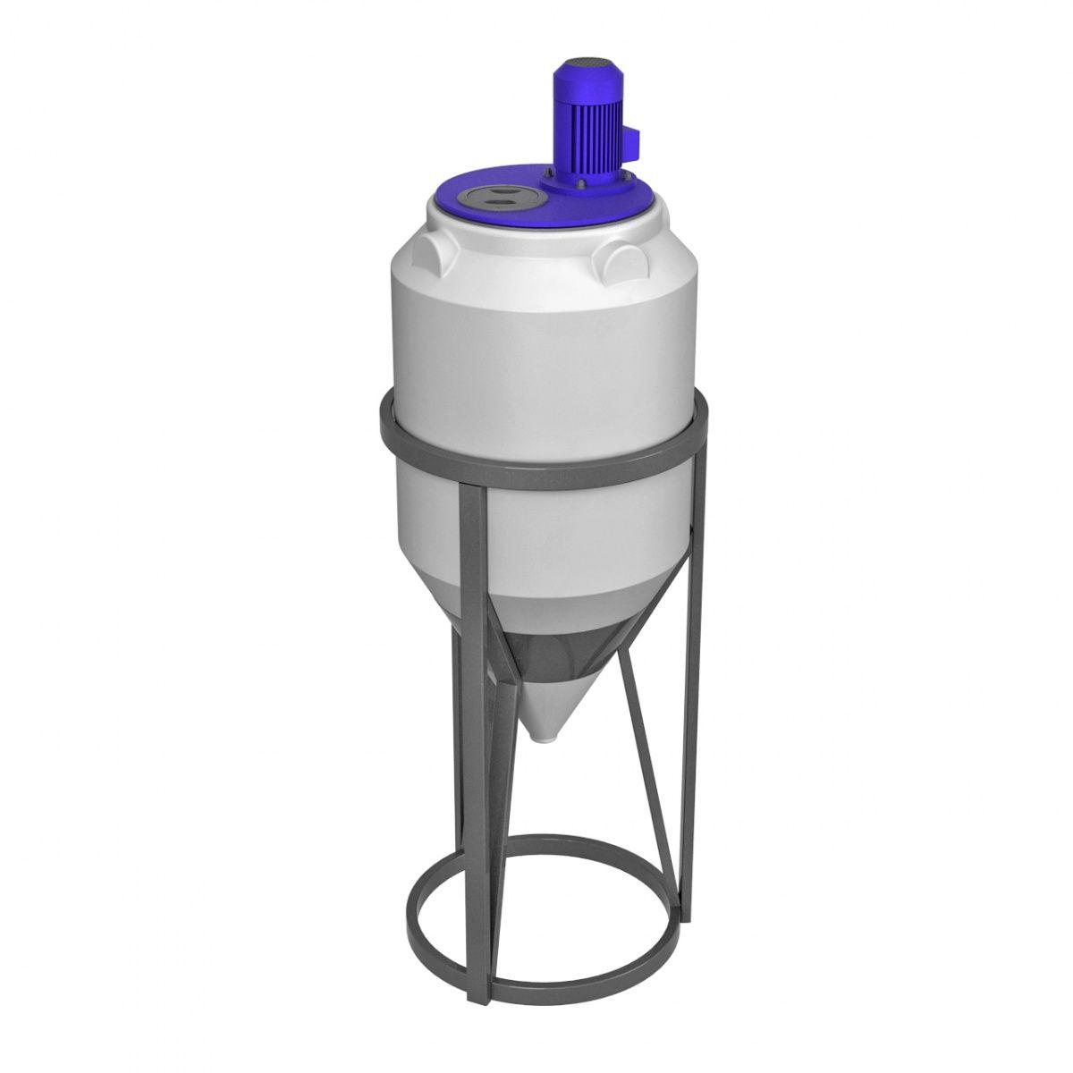 Емкость конусная 120 литров ФМ с лопастной мешалкой