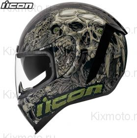 Шлем Icon Airform Parahuman, Черно-серый