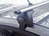 Багажник на крышу Kia Sportage 2016-... (без рейлингов), Евродеталь, аэродинамические дуги