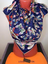 Шелковый платок Louis Vuitton (синий), арт.012