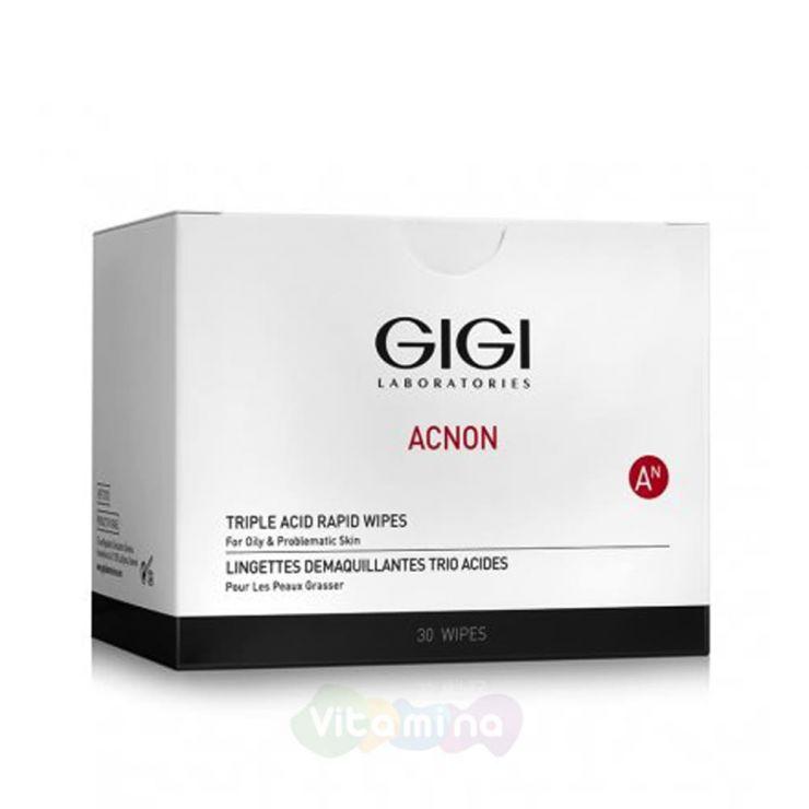 GiGi Трехкислотные пилинг-салфетки Acnon Triple Acid Rapid Wipes, 30 шт