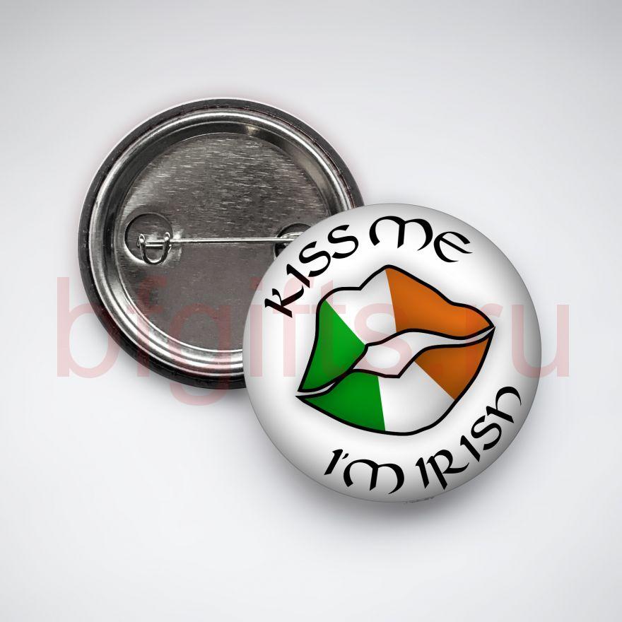 Значок Kiss me I'm irish