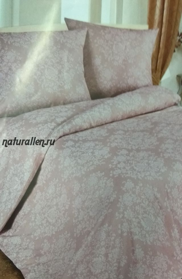 Простынь лен/хлопок 50/50 цвет розовый