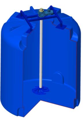 Емкость TR 10000 (1,5) с гиперболической мешалкой
