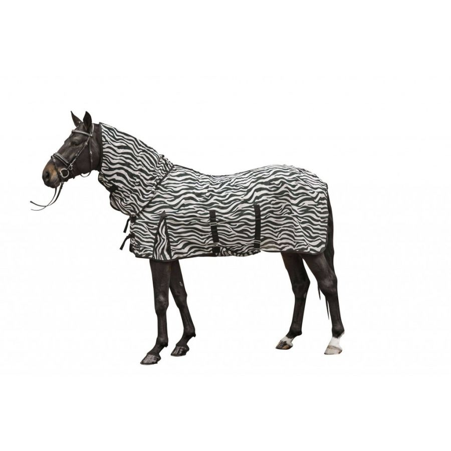 Антимоскитная попона с капором и фартуком -Zebra-, HKM