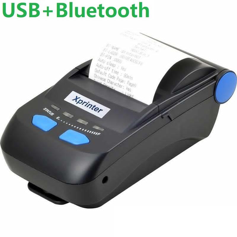 Мобильный принтер чеков Xprinter XP-P300 черный USB + Bluetooth