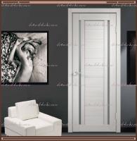 Межкомнатная дверь DUPLEX 2  Дуб белый, стекло - Мателюкс :