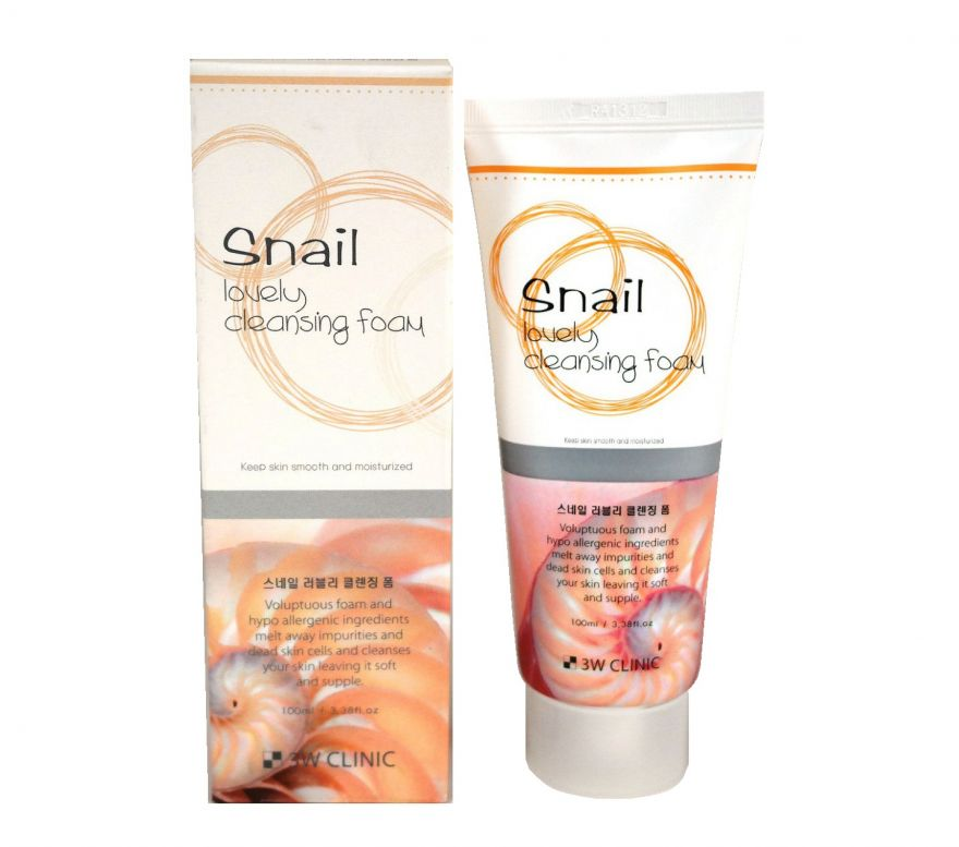 3w Сlinic Snail Lovely Cleansing Foam пенка для умывания с муцином улитки