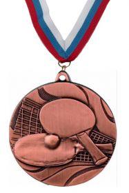Медаль Настольный теннис 3 место с лентой 50 мм