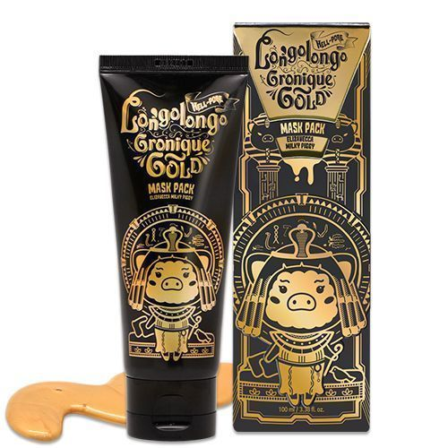 МАСКА-ПЛЕНКА ЗОЛОТАЯ Elizavecca  Hell-pore longolongo gronique gold mask pack