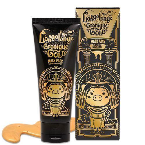 МАСКА-ПЛЕНКА ЗОЛОТАЯ Elizavecca  Hell-pore longolongo gronique gold mask pack