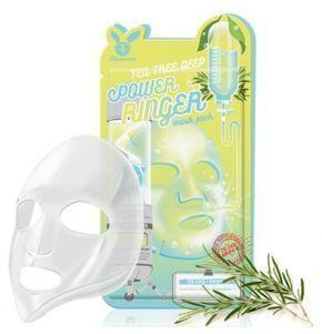 [Elizavecca] НАБОР/Тканевая маска д/лица Чайное Дерево TEA TREE DEEP POWER Ringer mask pack, 10 шт