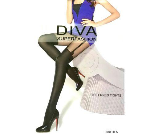 Женские колготки Diva Black 380 Den DK57