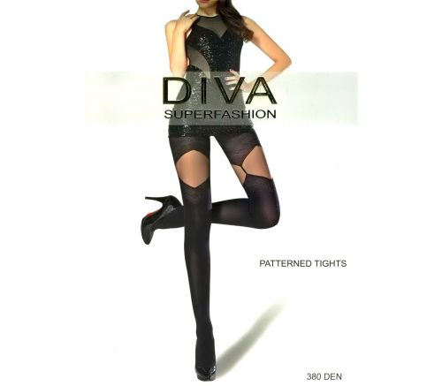 Женские колготки Diva Black 380 Den DK65