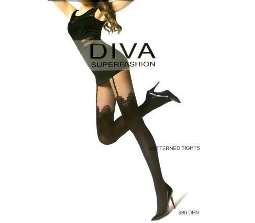 Женские колготки Diva Black 380 Den DK157