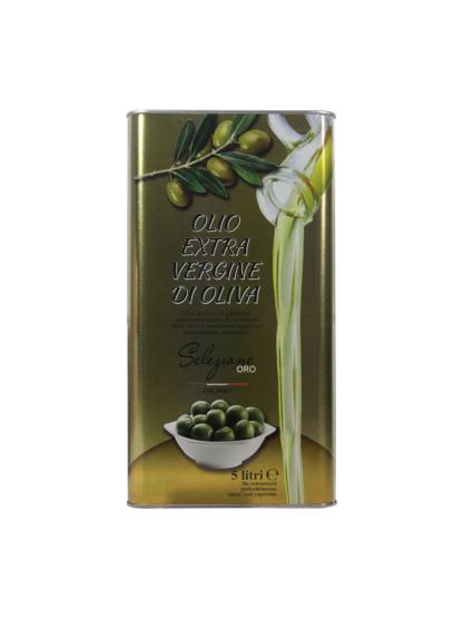 Масло оливковое Extra Vergine нерафинированное в ж.б. 5 лит. Италия
