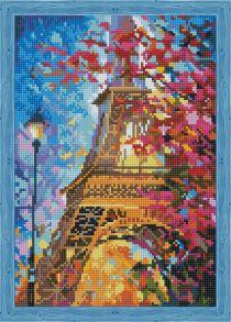 Алмазная мозаика «Весной в Париже» 30x40 см