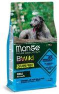 Monge Dog BWild GRAIN FREE Беззерновой корм из анчоуса c картофелем и горохом для собак всех пород (2,5 кг)