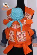 Эрго рюкзак ГИБРИД - Мозаика - оранжевый лён
