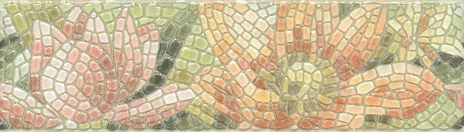HGD/A147/880L | Бордюр Летний сад Лилии лаппатированный