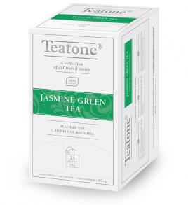 Чай Teatone пакетированный Зеленый с Жасмином25пак./1уп.