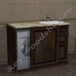 """Тумба под стиральную машину """"Челси-2М-120 орех"""""""